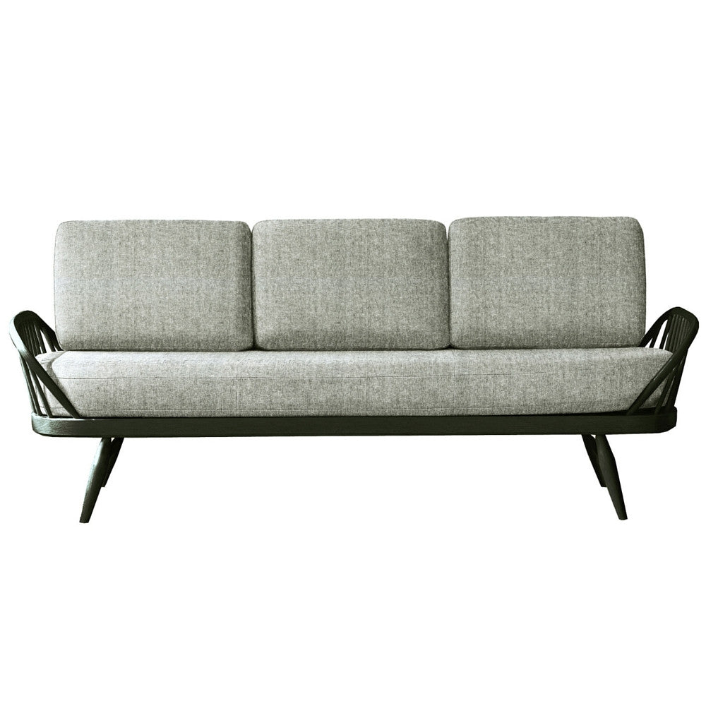 Ercol Originals Studio Sofa Grey with Black Frame