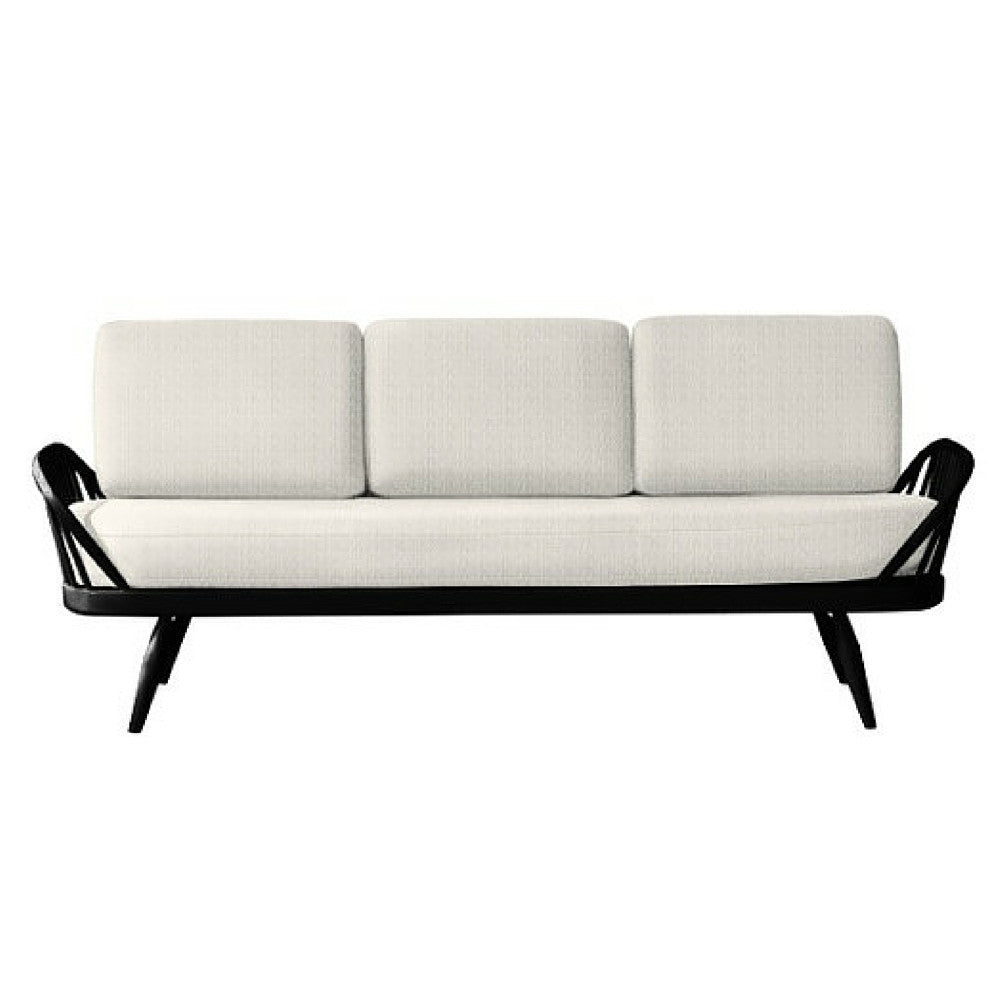 Ercol Originals Studio Sofa White with Black Frame