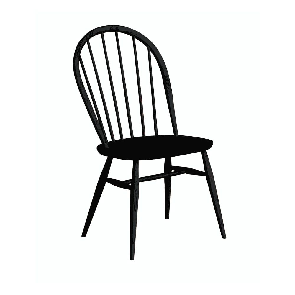 ercol Originals Windsor Chair Lucian Ercolani Modern  : ercol originals windsor dining chair black1024x1024 from www.paletteandparlor.com size 1000 x 1000 jpeg 37kB