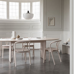 ercol Pennon Table by Norm Architects in Dining Room with Flow Chairs