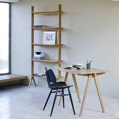 Ercol Tall Pero Shelves in Room with Pero Desk and Butterfly Chair