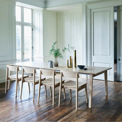 Ercol Ponte Dining Table in Room with Forma Dinig Chairs