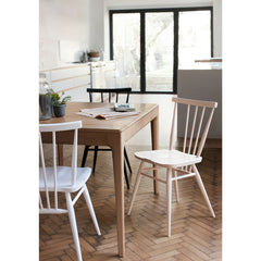 Ercol Romana Dining Table with Light All Purpose Chairs in Kitchen