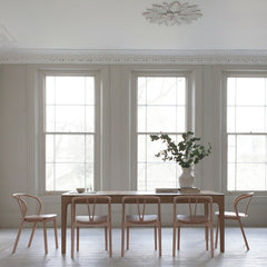 Ercol Romana Dining Table with Flow Chairs in Dining Room