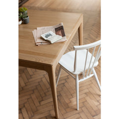 Ercol Originals All Purpose Chair Painted White with Romana Table