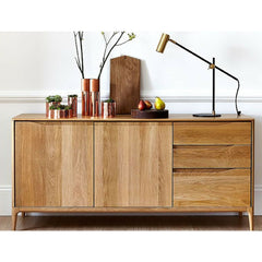 Ercol Romana Sideboard Large in Room with Task Lamp