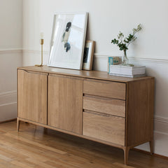 Ercol Romana Sideboard Large in Room with Art