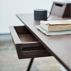 Ercol Treviso Desk by Matthew Hilton Walnut Drawer Detail