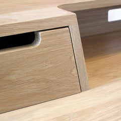 Ercol Oak Treviso Desk Drawer Front Detail