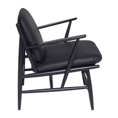 ercol Von Arm Chair all black with leather
