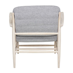 ercol Von Arm Chair in Ash with Grey Wool Back