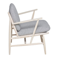 ercol Von Arm Chair in Ash with Grey Wool Side