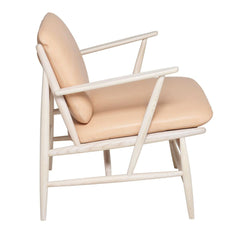 ercol Von Arm Chair in Ash with Nude Leather Side