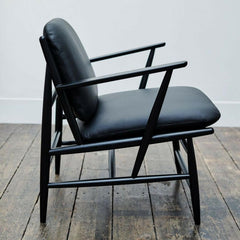ercol Von Arm Chair Black Side