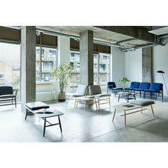 ercol Von benches with Von chairs in open plan workspace