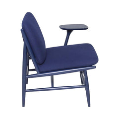 ercol Von Work Chair Left Arm Indigo Blue Side