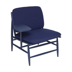 ercol Von Work Chair Right Arm Indigo Blue Angled