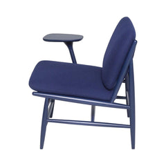ercol Von Work Chair Right Arm Indigo Blue Profile