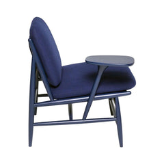 ercol Von Work Chair Right Arm Indigo Blue Side
