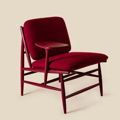 ercol Von Work Chair Right Arm in Burgandy