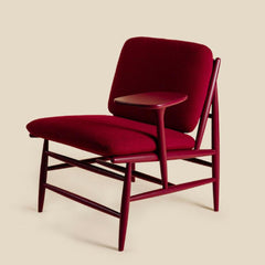 ercol Von Work Chair Left Arm Burgandy