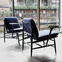 ercol Von Work Chairs Indigo Blue in Situ