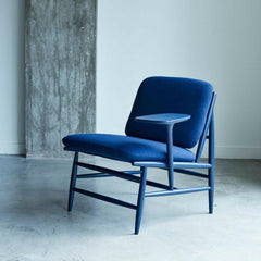 ercol Von Work Chair Left Arm Indigo Blue in Room