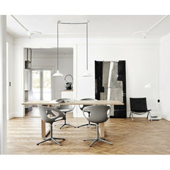 Essay Table in Room with Rin Chairs Fritz Hansen