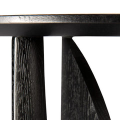 Ethnicraft Oak Geometric Side Table Black Detail