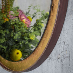 Ethnicraft Gold Leaf Wall Mirror Detail