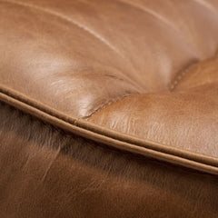 Ethnicraft N701 Sofa Old Saddle Leather Stitching Detail