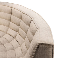 Ethnicraft N701 Sofa Rounded Corner Beige Detail