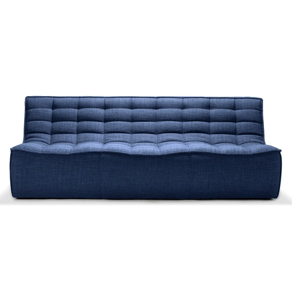 Ethnicraft N701 Sofa Blue Bermuda Three Seat