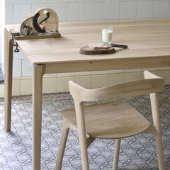 Ethnicraft Oak Bok Dining Chair and Oak Bok Table in Kitchen