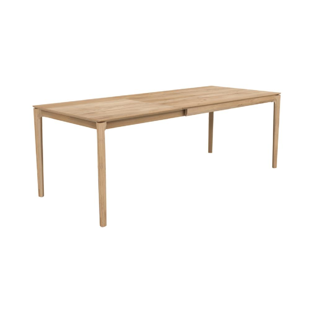 Ethnicraft Oak Bok Extendable Dining Table Angled