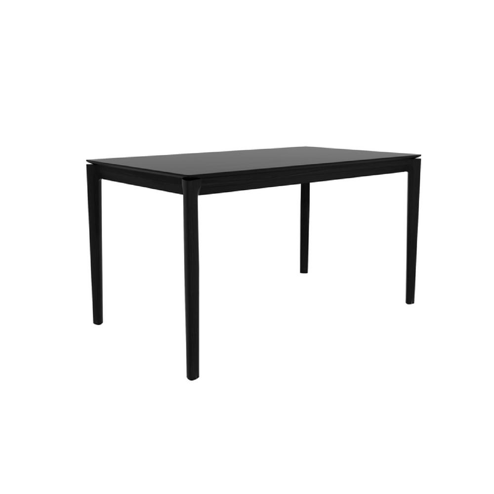 Ethnicraft Black Oak Bok Dining Table 55""