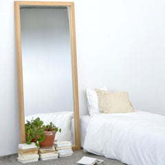 Ethnicraft Oak Light Frame Mirror in Bedroom