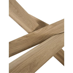 Ethnicraft Oak Mikado Dining Table Base Detail