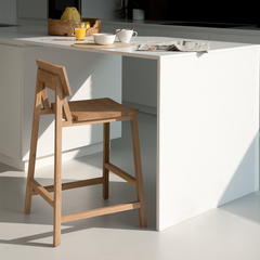 Ethnicraft N2 Counter Stool in Kitchen