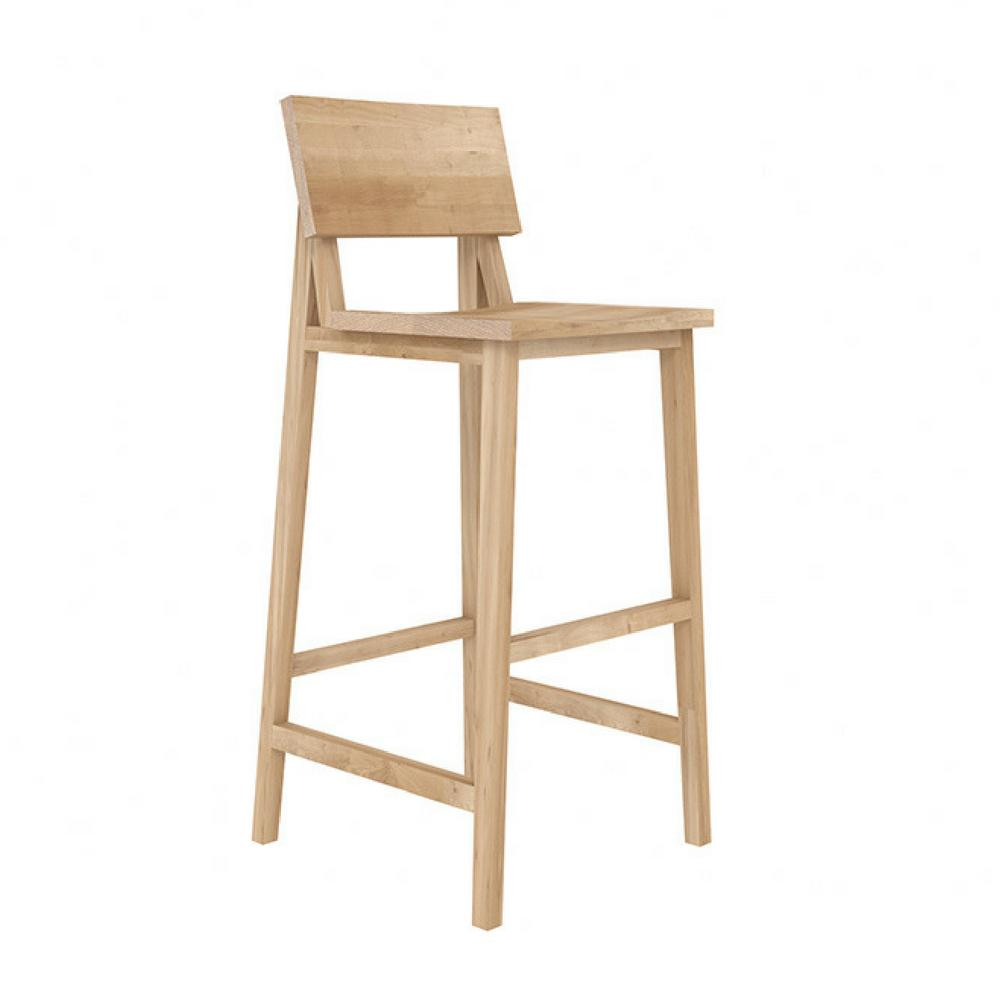 Ethnicraft Oak N4 Bar Stool