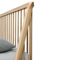 Ethnicraft Oak Spindle Bed Headboard Detail