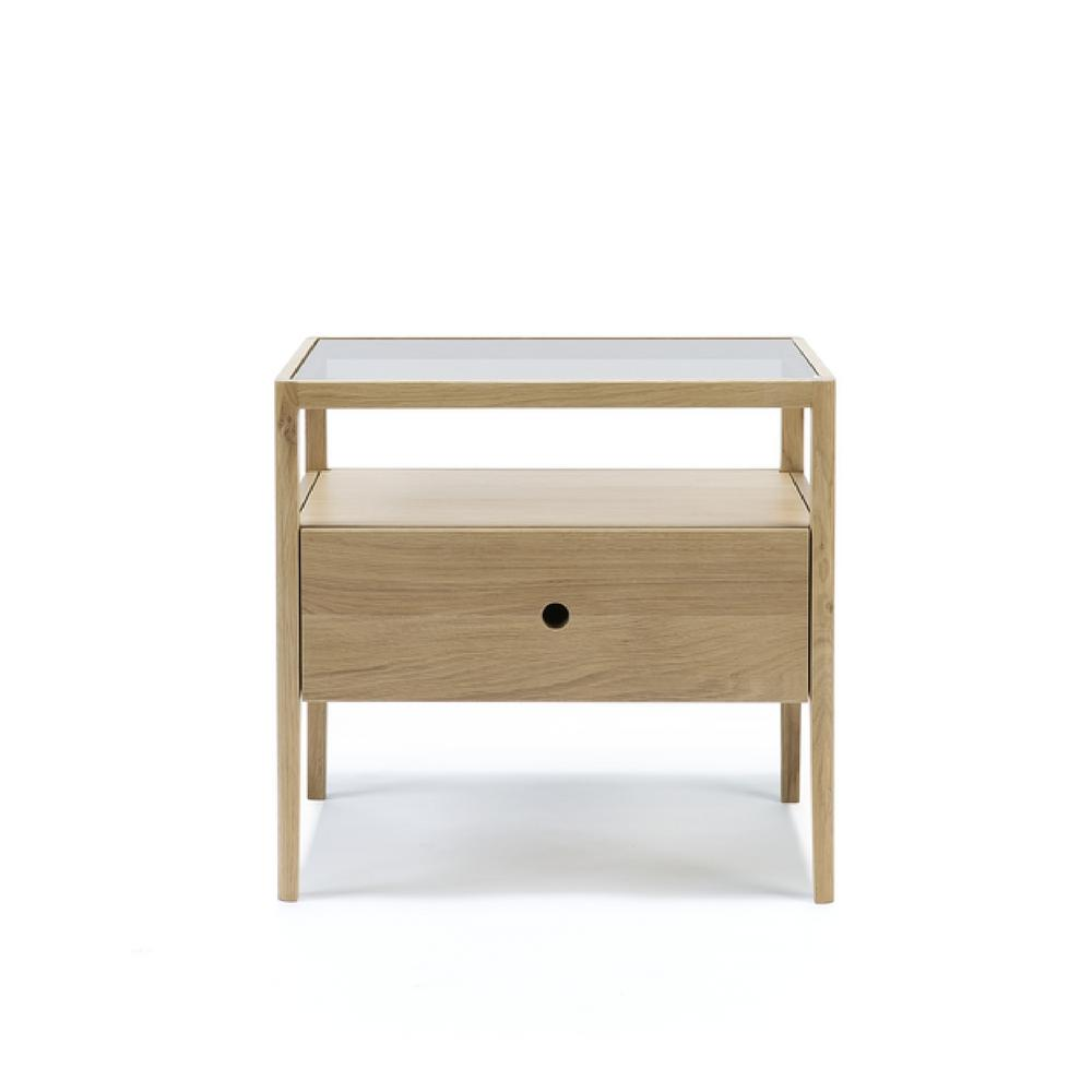 Ethnicraft Oak Spindle Bedside Table Oak