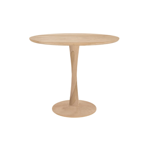 Ethnicraft Round Oak Torsion Dining Table