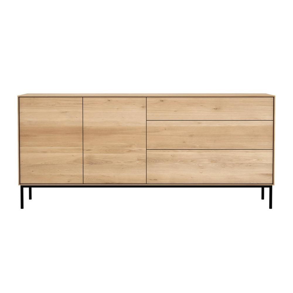 Ethnicraft Oak Whiteboard Sideboard 2 Doors 3 Drawers