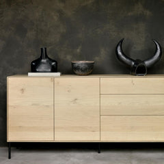 Ethnicraft Oak Whitebird Sideboard Styled