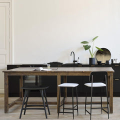 Ethnicraft Osso Stool in Kitchen with DC Stools