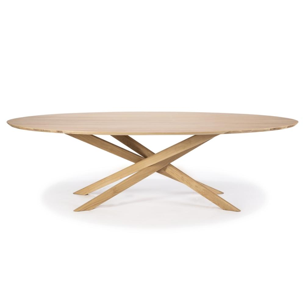 Ethnicraft Oak Mikado Dining Table - Oval  Palette & Parlor