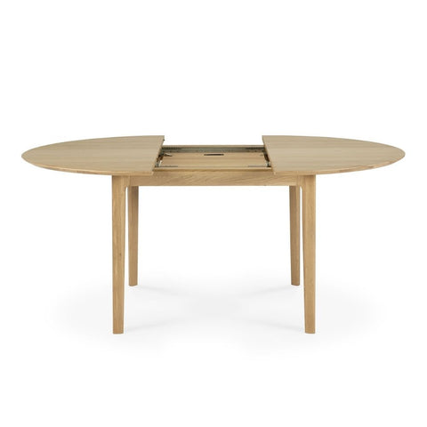 Ethnicraft Oak Bok Round Extendable Dining Table