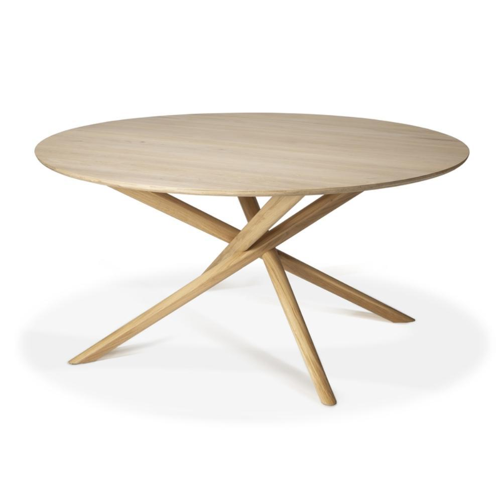 Ethnicraft Round Mikado Dining Table
