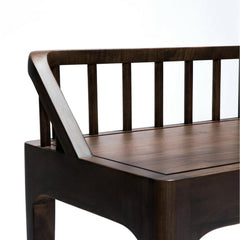 Ethnicraft Walnut Spindle Bench by Nathan Yong Closeup